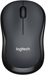 Logitech M220 Wireless Mouse, Silent Buttons, 2.4 GHz with USB Mini Receiver, 1000 DPI Optical Tracking, 18-Month Battery Life, Ambidextrous PC / Mac / Laptop - Noir