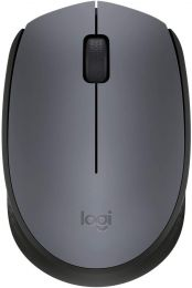 Logitech M170 Wireless Mouse, 2.4 GHz with USB Nano Receiver, Optical Tracking, 12-Months Battery Life, Ambidextrous, PC/Mac/Laptop-Gray